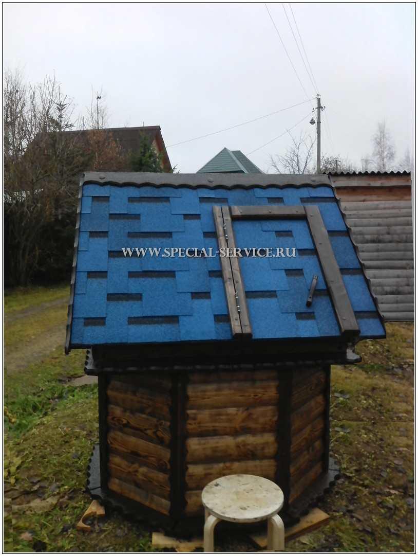 Домик для колодцев для дачи